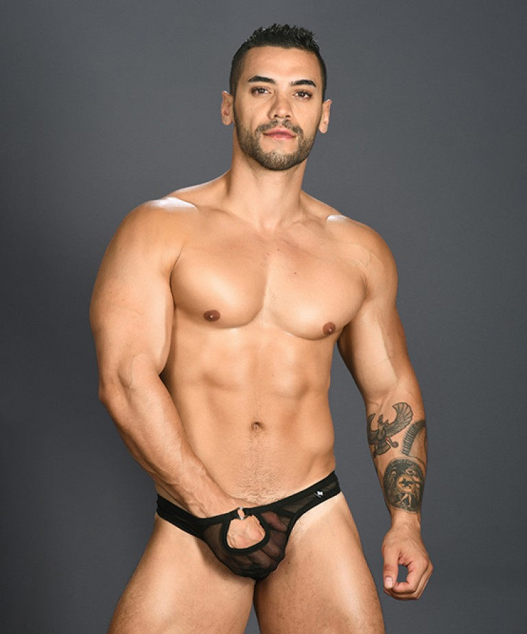 Arouse Gigolo Mesh Ring Thong