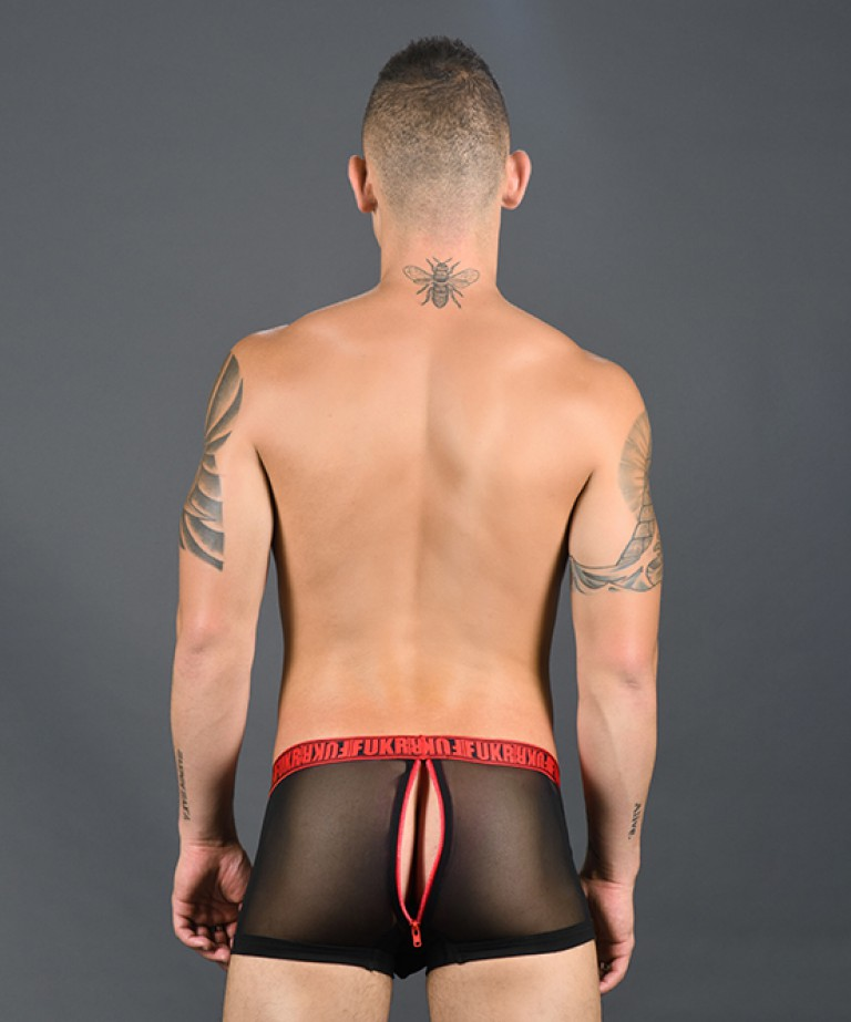 FUKR BOTTOM Easy Access Zipper Mesh Boxer