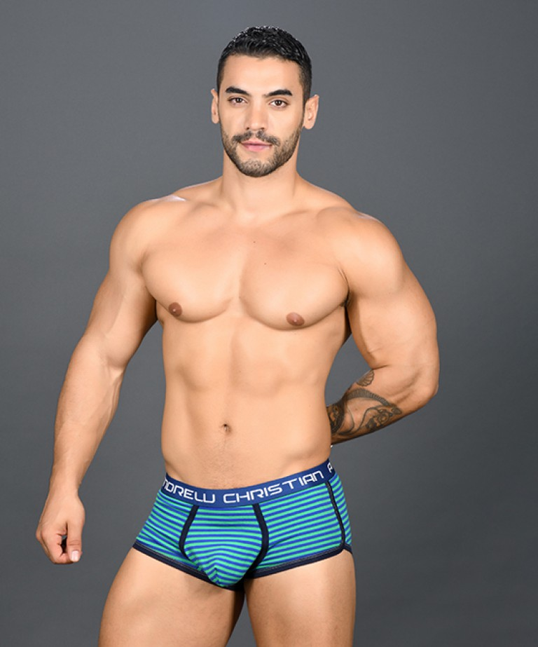 Academy Stripe Boxer w/ Almost Naked