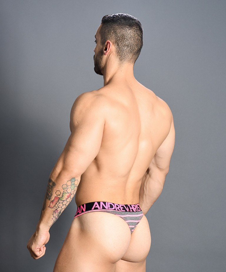 Physical Stripe Thong w/ Almost Naked
