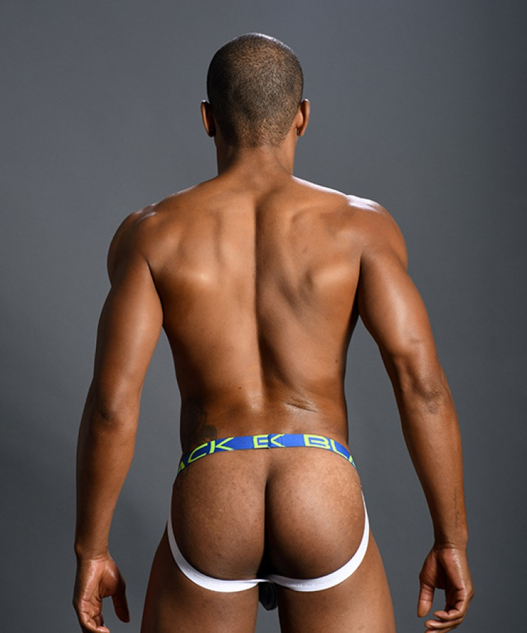 Black Collection Stripe Jock