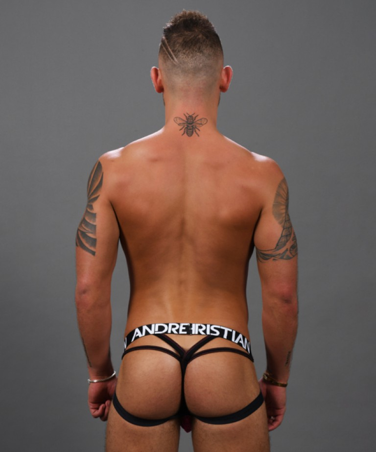Shocking Lace Y-Back Jock Thong w/ Almost Naked