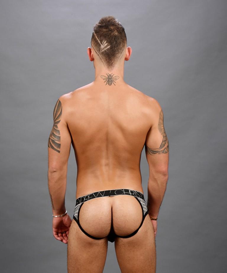 Sheer Stripe Frame Jock w/ Almost Naked