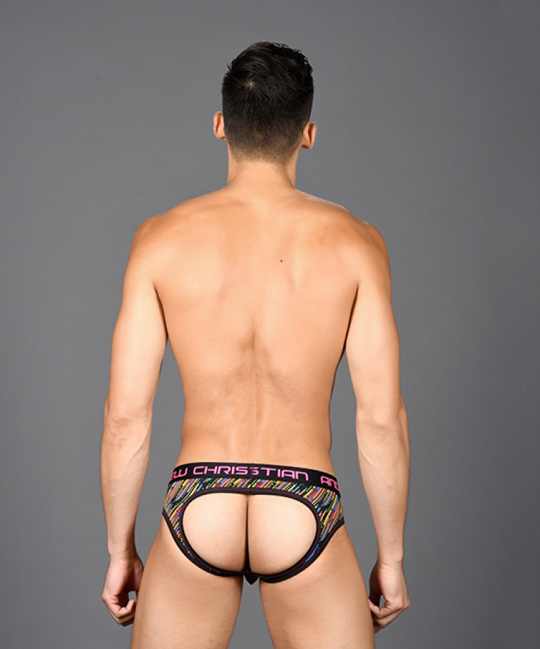 Stellar Stripe Rainbow Air Jock w/ Almost Naked