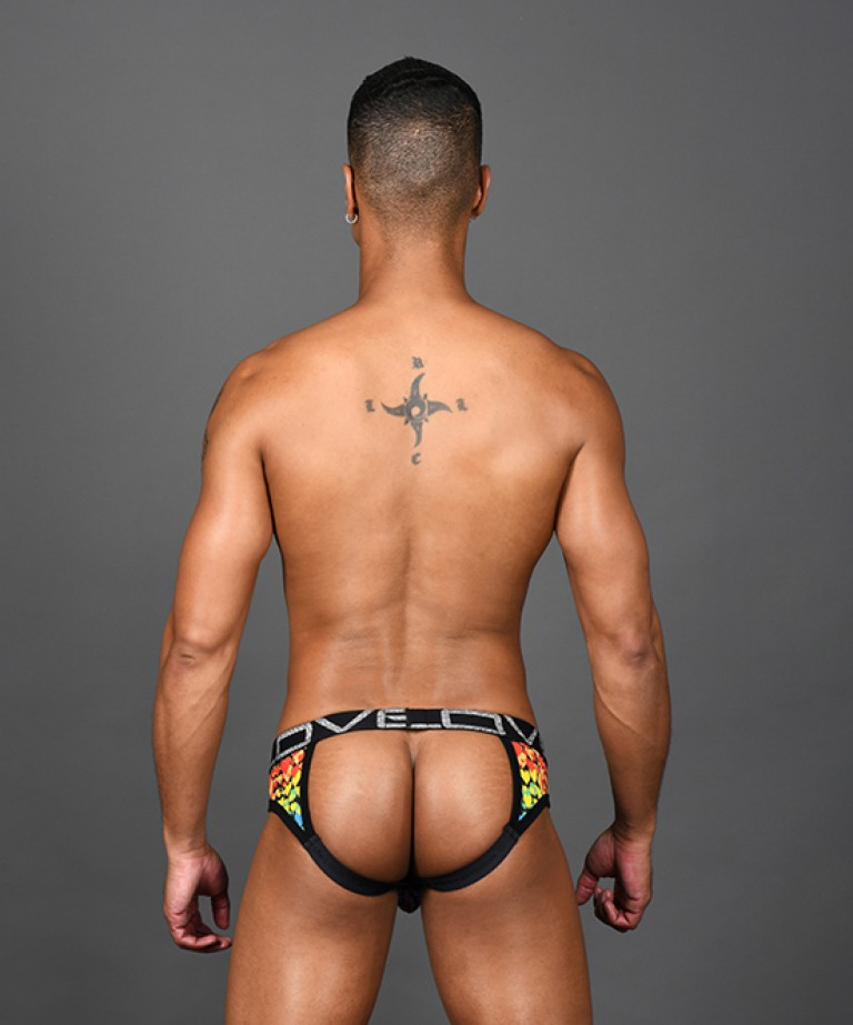 Love Pride Heart Frame Jock w/ Almost Naked
