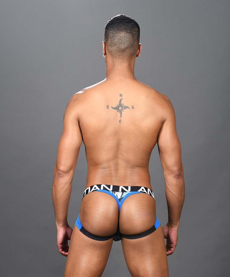 Shockwave Mesh Brief Jock Thong w/ Almost Naked