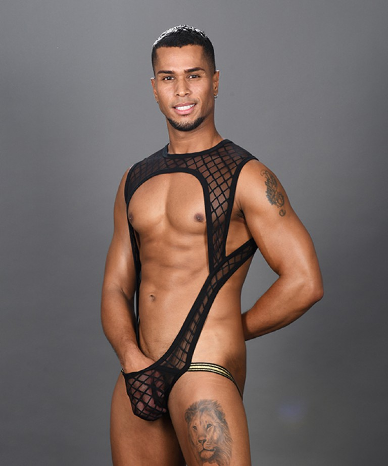 Lattice Lace Sheer Singlet w/ Almost Naked