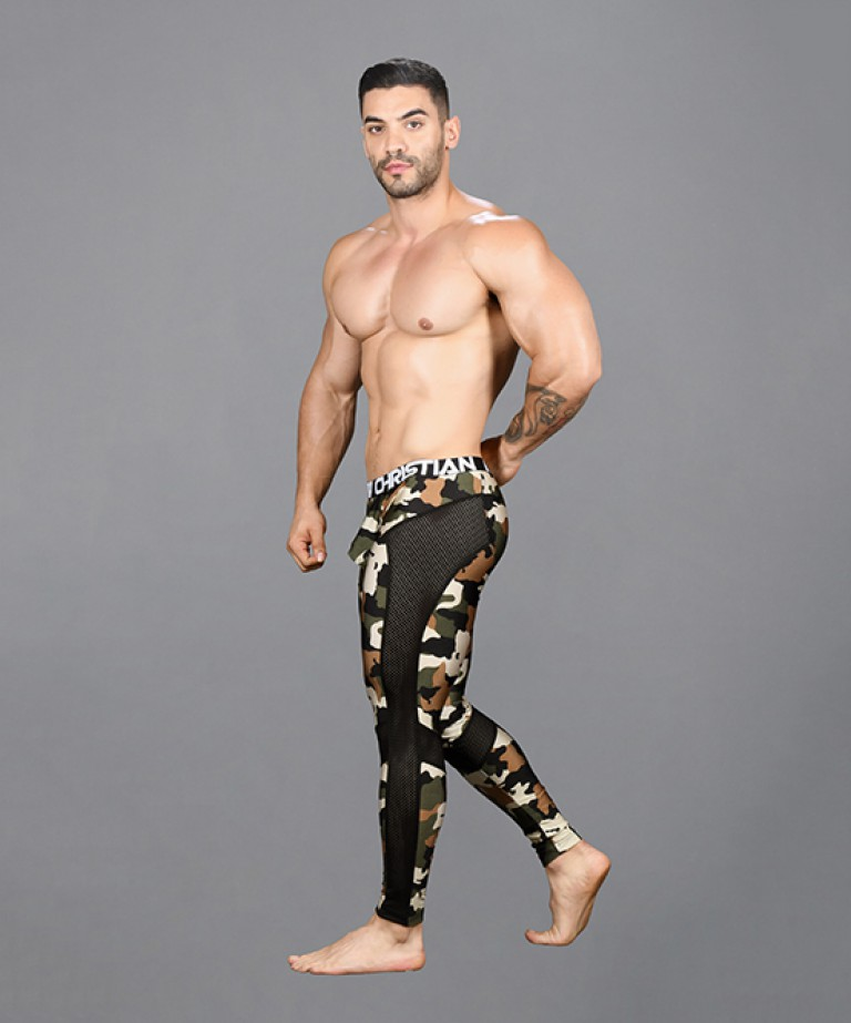 Camouflage Mesh Legging w/ Almost Naked