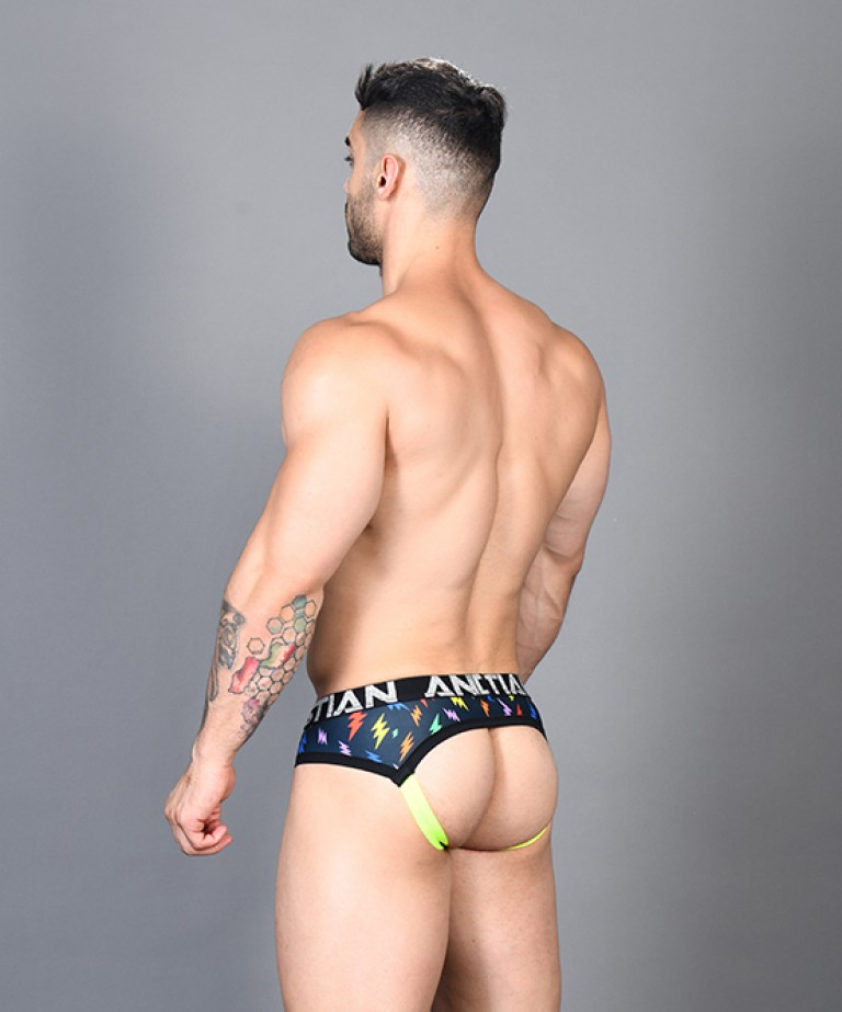 Rainbow Lightning Arch Jock w/ Almost Naked