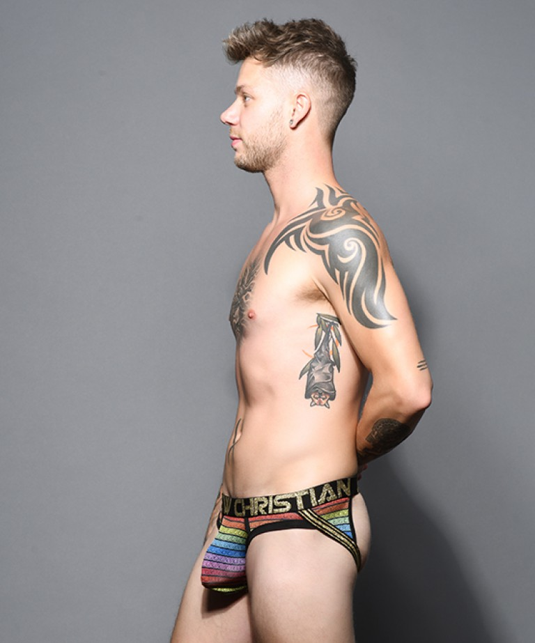 Greek God Rainbow Frame Jock w/ Almost Naked