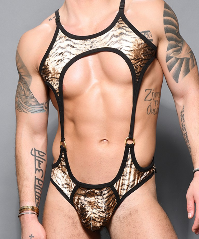 Plush Tiger Ring Singlet w/ Almost Naked