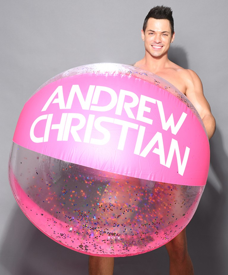 "60"" Rainbow-Glitter Beach Ball"