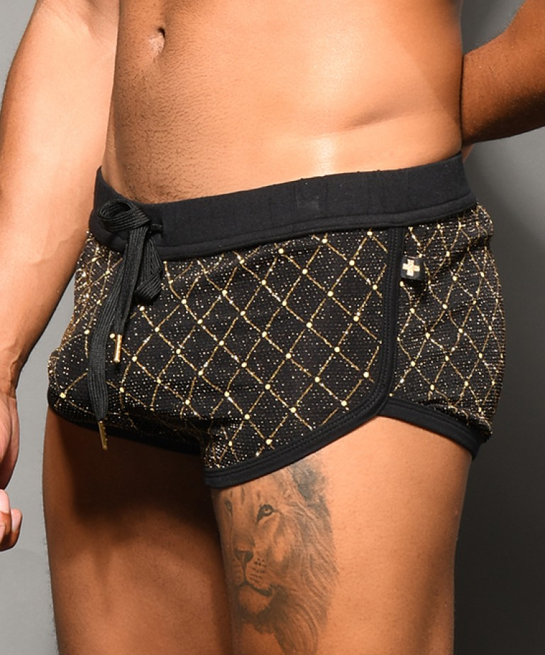 Argyle Glam Jogger Shorts