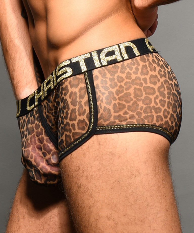 Sheer Leopard Boxer w/ Almost Naked