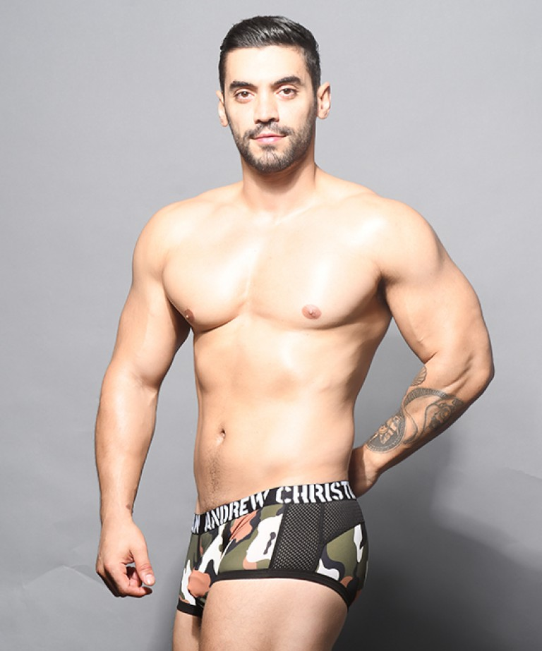 Camouflage Mesh Boxer w/ Almost Naked