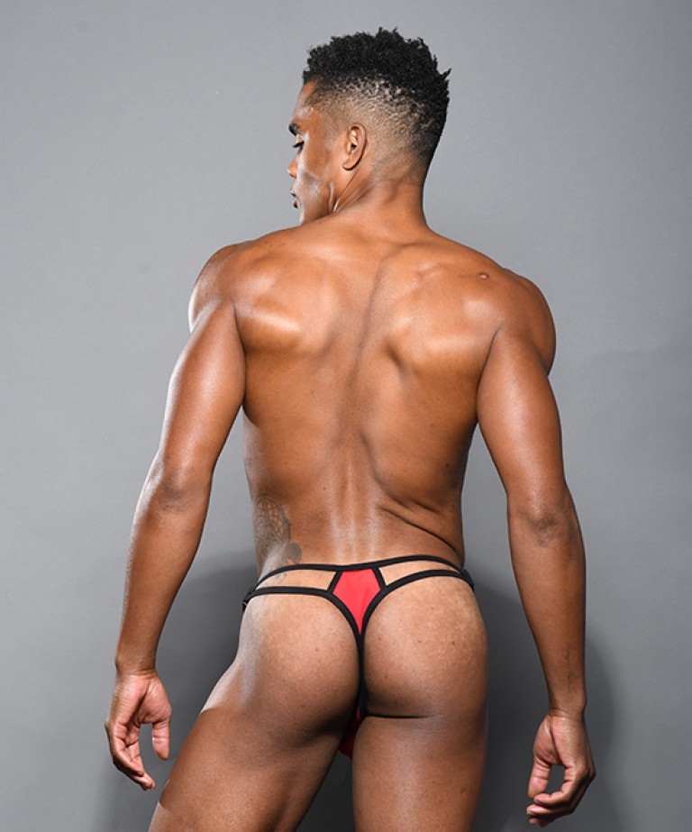 Scarlet Sheer Buckle Thong w/ Almost Naked