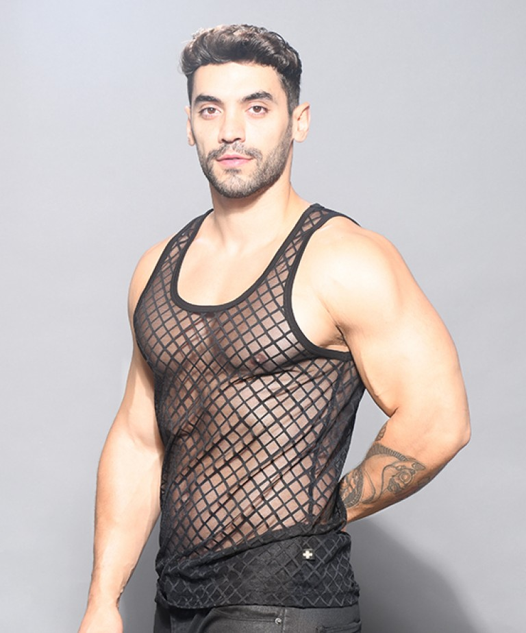Lattice Lace Tank