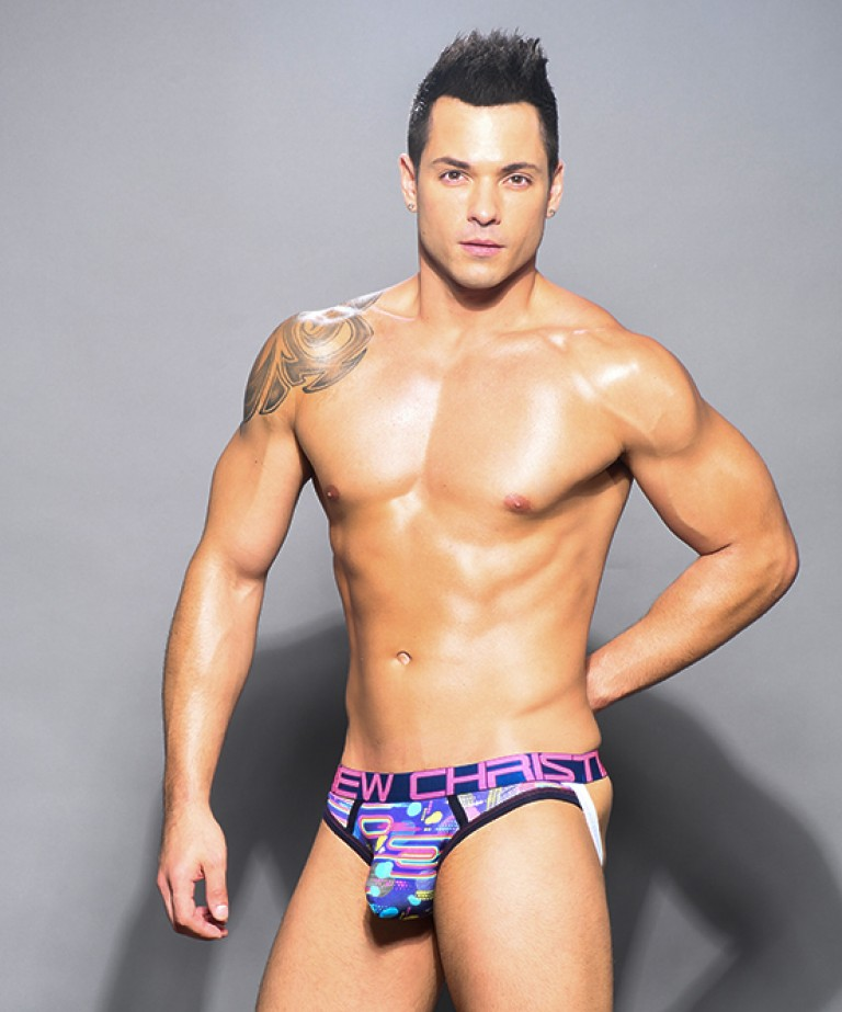 Funky Retro Brief Jock w/ Almost Naked