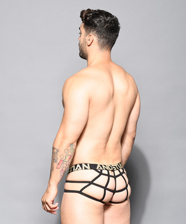 Glam Leopard Web Thong w/ Almost Naked