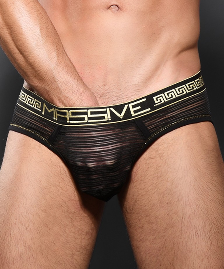 MASSIVE Sheer Stripe Brief