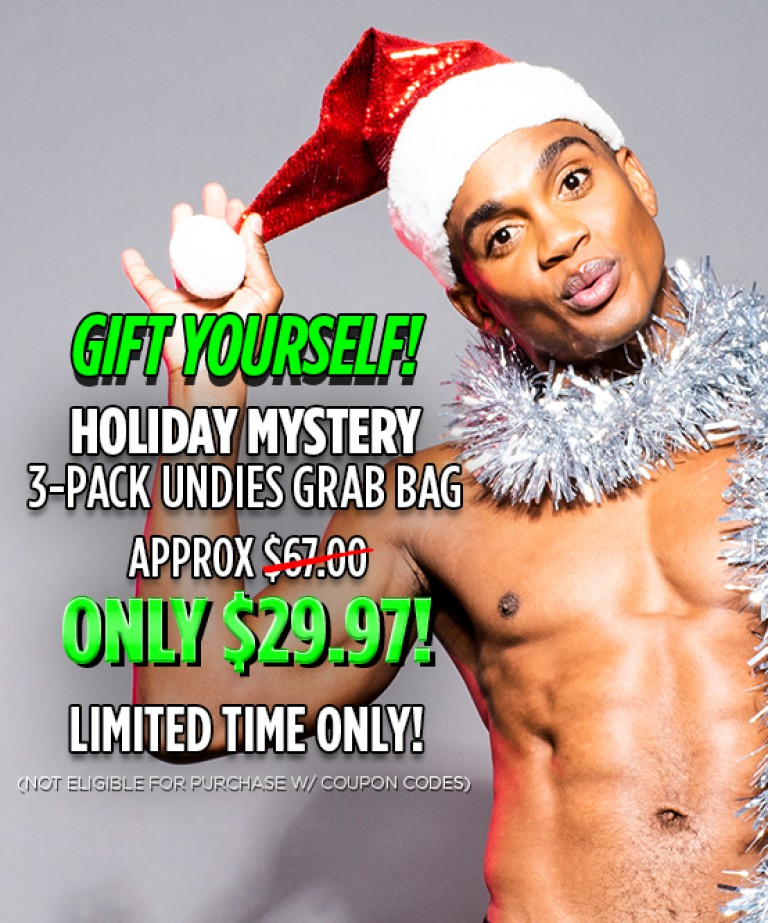 GIFT YOURSELF! Holiday Mystery 3-Pack Undies Grab Bag