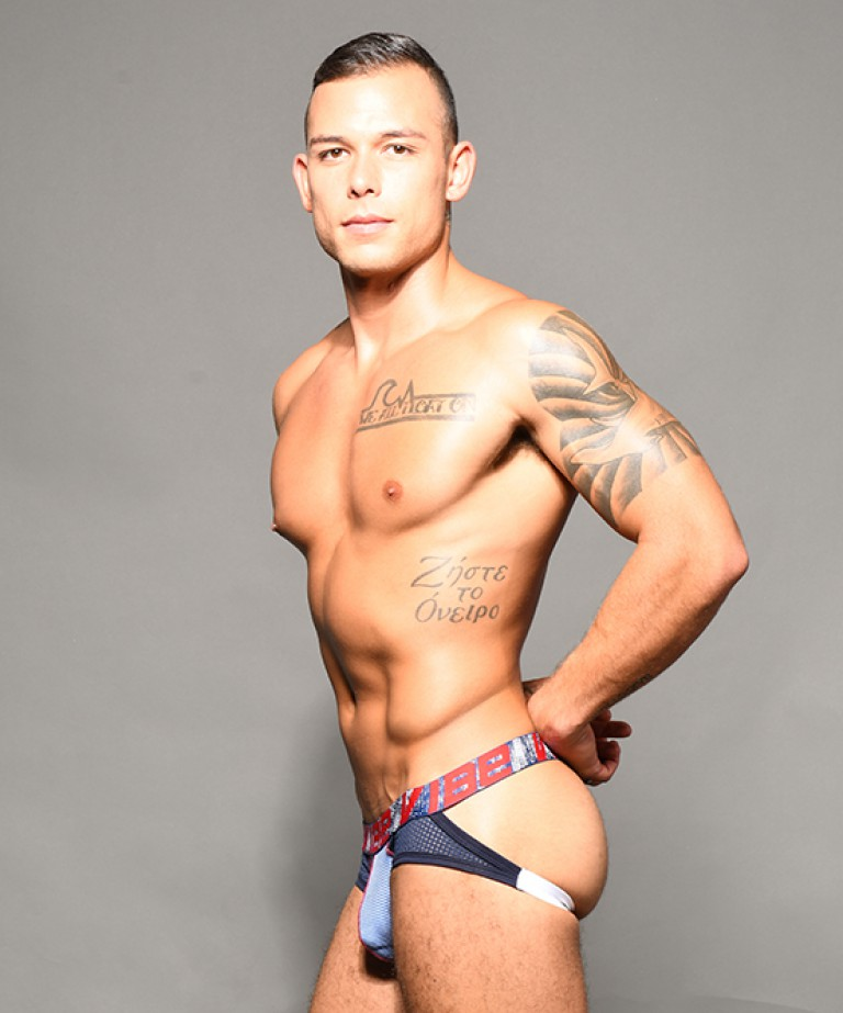 Vibe Stripe Sports Mesh Jock