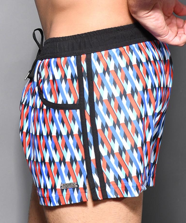 Holiday Swim Shorts w/ Logo Charm