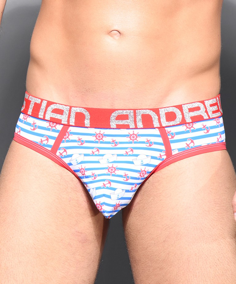 Sailor Stripe Brief w/ Almost Naked