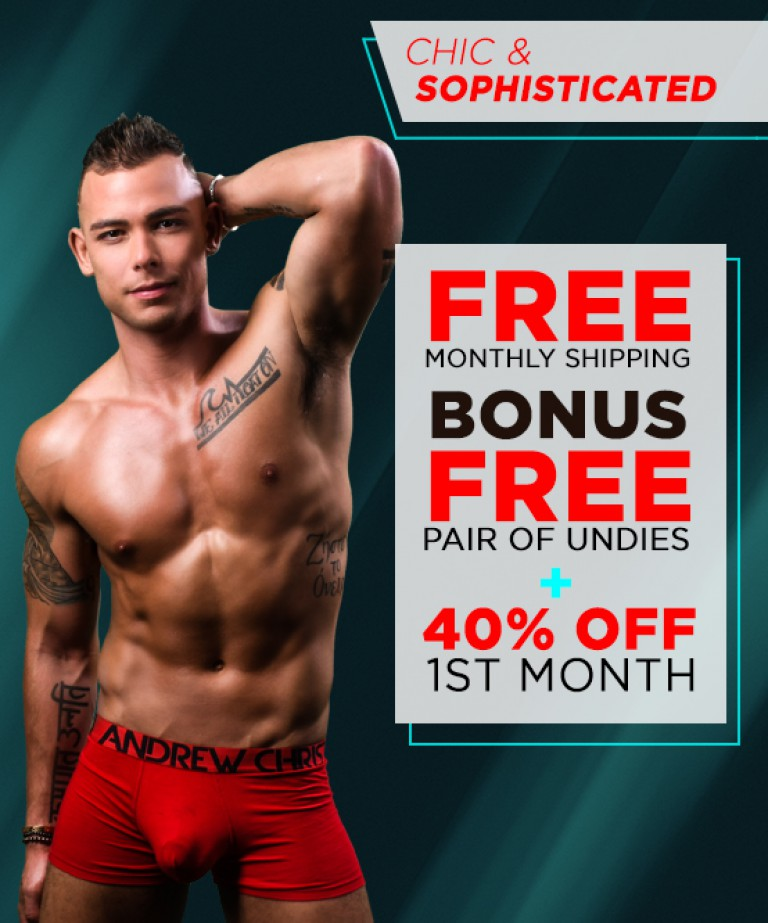 Chic & Sophisticated Curated Underwear Club with FREE SHIPPING