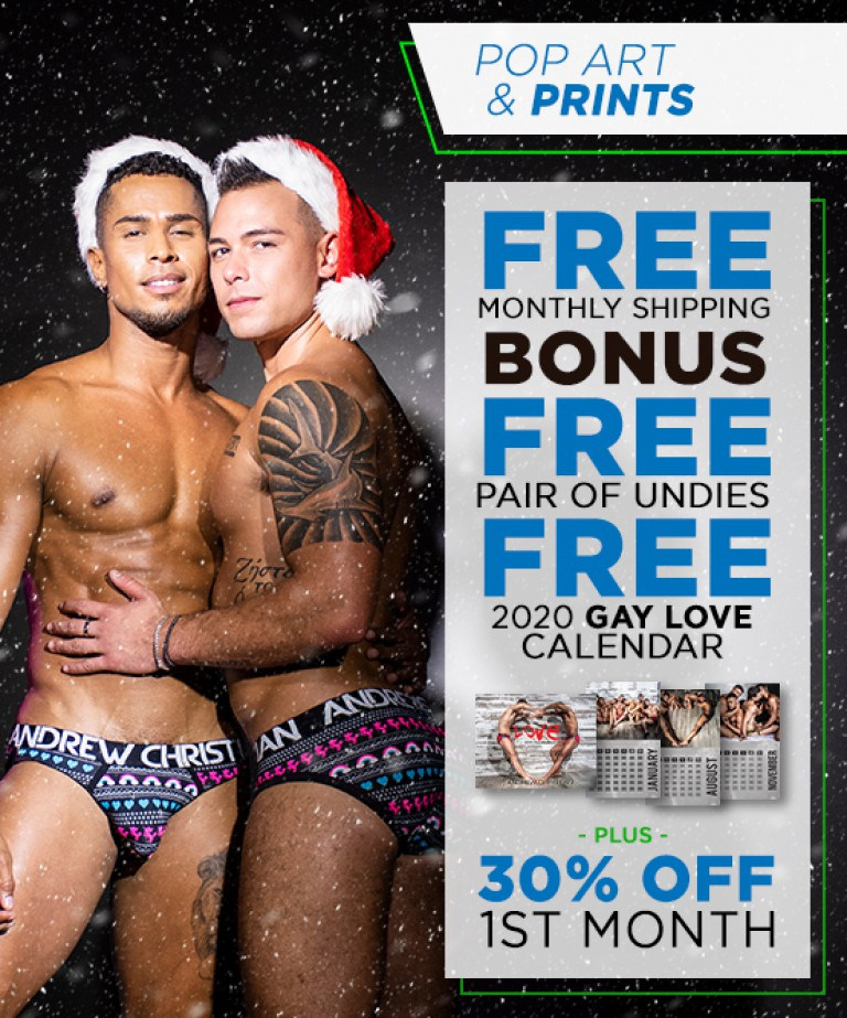 Pop Art & Prints Curated Underwear Club with FREE SHIPPING