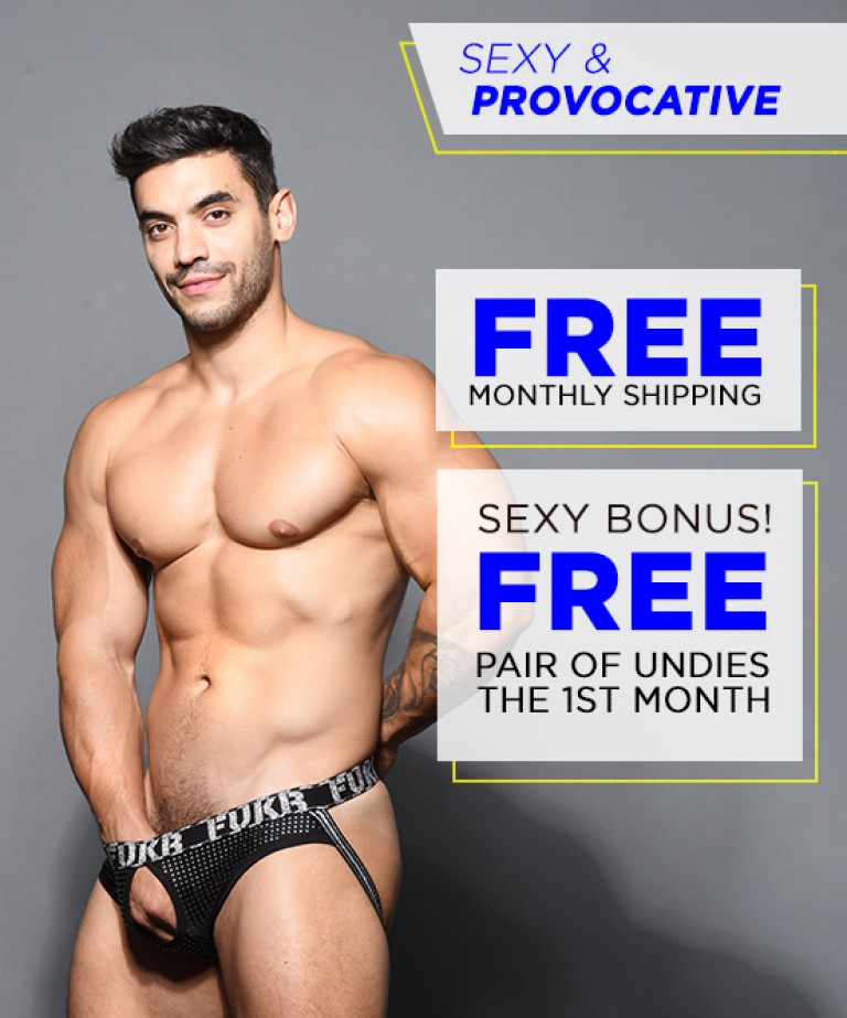 Sexy & Provocative Curated Underwear Club with FREE SHIPPING