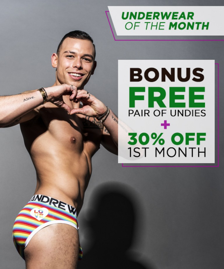 Underwear Of The Month Club Subscription