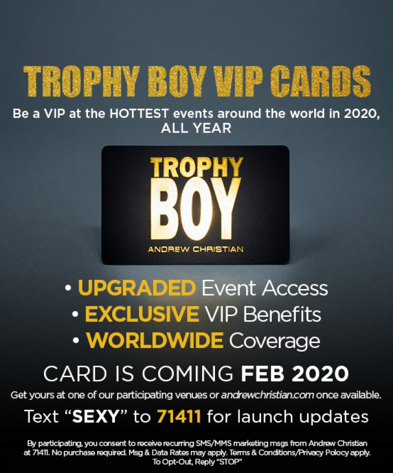 Trophy Boy VIP Cards COMING SOON! (Text SEXY To 71411 For Updates)