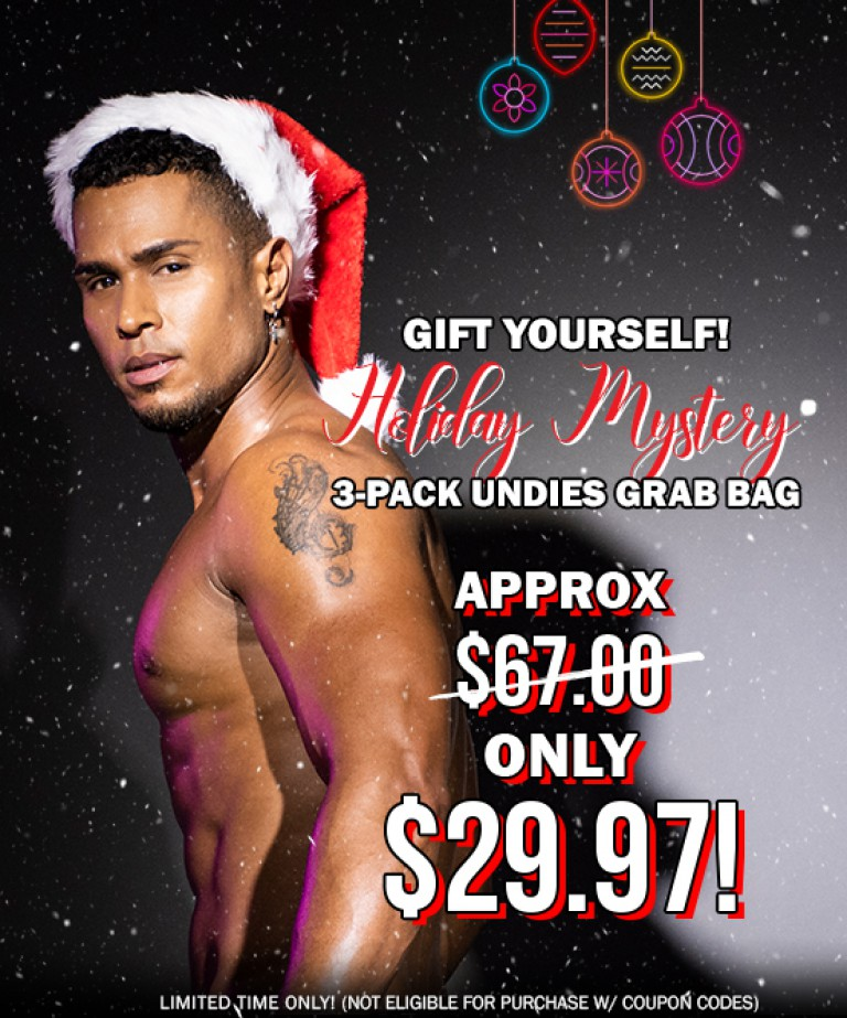Gifts! Gifts! Gifts! Holiday Mystery 3-Pack Undies Grab Bag