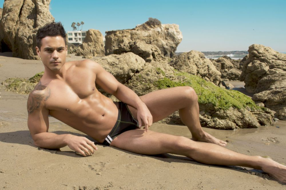 Model Cory Zwierzynski in Andrew Christian Mens Sexy Underwear