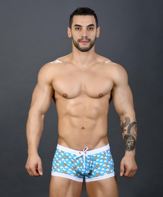 5b7fa02dcf Sexy Men's Swimwear Pride Rainbow Trunk | Andrew Christian