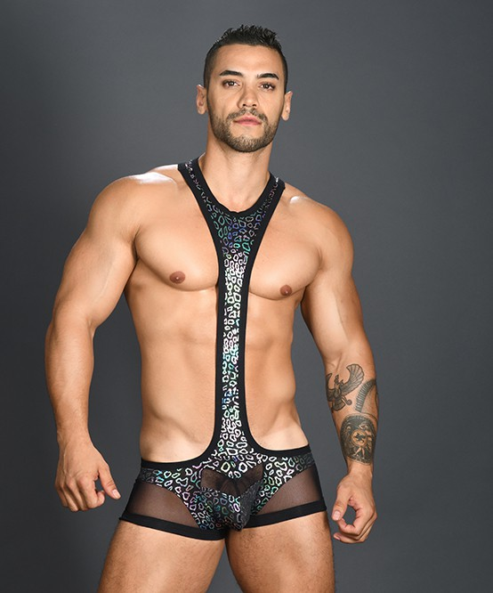 326b7f5ad31d3 Sexy Men s Underwear Disco Animal Singlet w  Almost Naked