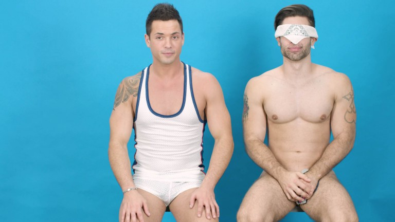Blindfold Body Striptease Challenge
