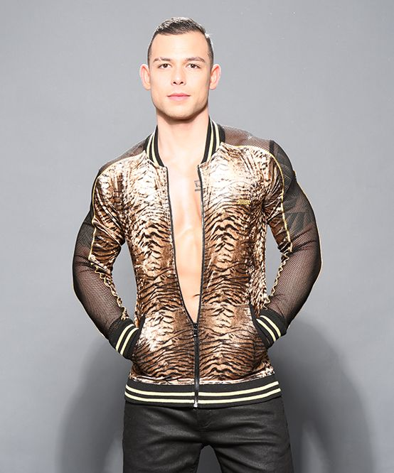 Plush Tiger Net Track Jacket