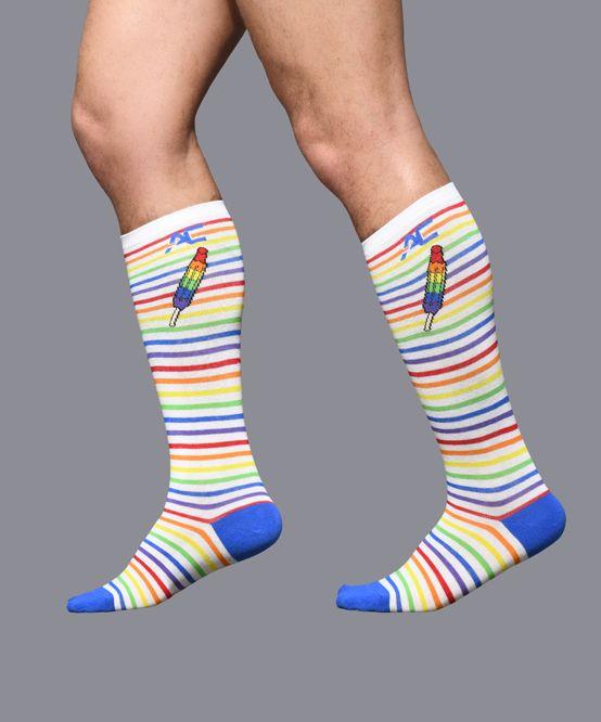 Pride Stripe Popsicle Socks
