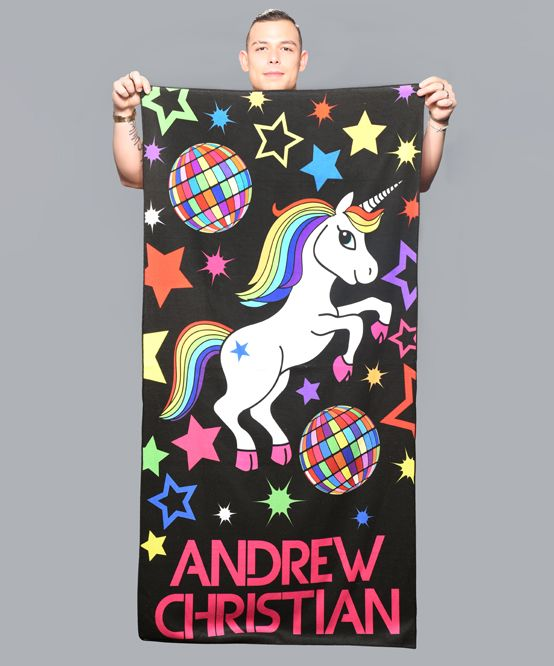 Disco Pride Unicorn Beach Towel