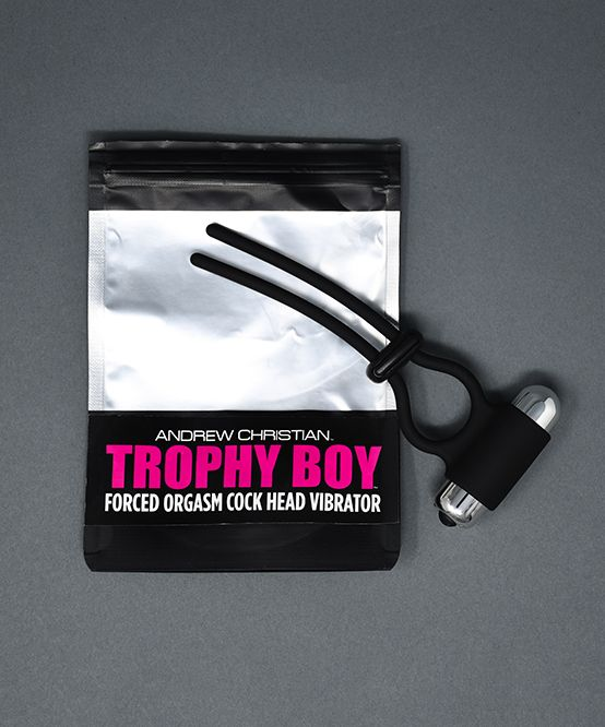 Trophy Boy Forced Orgasm Cock Head Vibrator