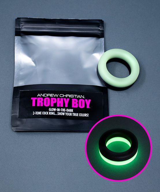 Trophy Boy 2-Tone Glow In The Dark Cock Ring