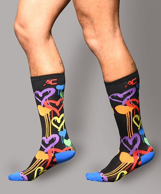 Graffiti Heart Socks