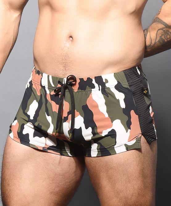 Camouflage Mesh Jogger Shorts