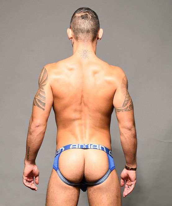 Sheer Stripe Frame Jock  w/ Almost Naked