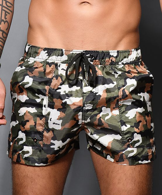 Camouflage Commando Swim Shorts