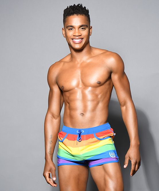 Pride Stripe Swim Shorts