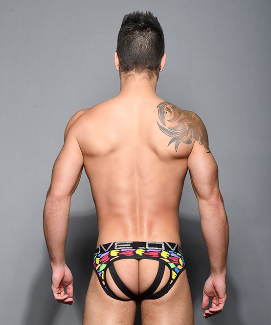 Love Pride Slash Bubble Butt Jock w/ Almost Naked