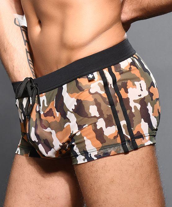 Sheer Camouflage Shorts